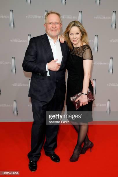 Harald Krassnitzer and AnnKathrin Kramer attend the German Television Award at Rheinterrasse on February 2 2017 in Duesseldorf Germany