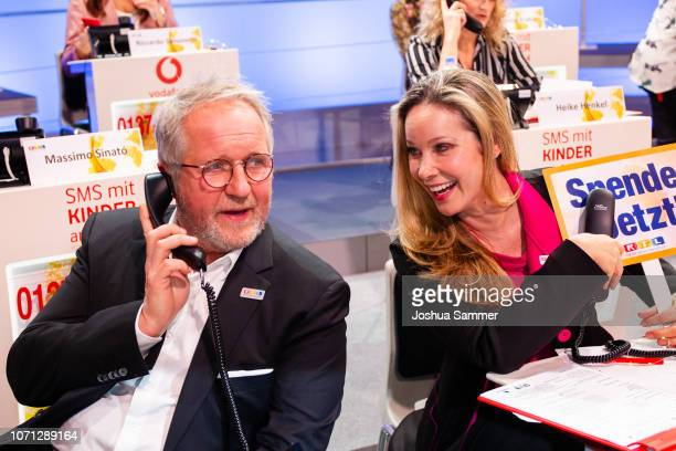 Harald Krassnitzer and AnnKathrin Kramer during the 23rd RTL Telethon on November 22 2018 in Huerth Germany