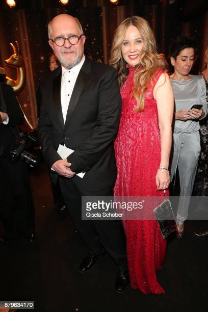 Harald Krassnitzer and his wife Ann Kathrin Kramer during the Bambi Awards 2017 at Stage Theater on November 16 2017 in Berlin Germany