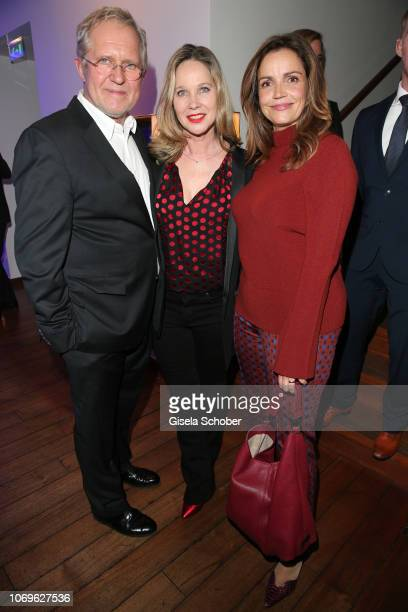 Harald Krassnitzer and his wife AnnKathrin Kramer and Rebecca Immanuel during the ARD advent dinner hosted by the program director of the tv station...