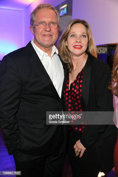 Harald Krassnitzer and his wife AnnKathrin Kramer during the ARD advent dinner hosted by the program director of the tv station Erstes Deutsches...