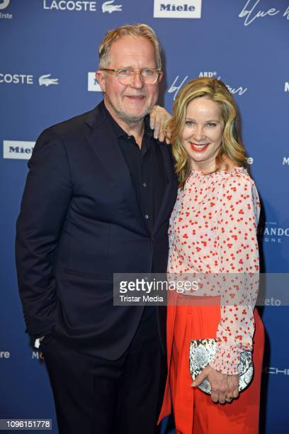 Harald Krassnitzer and his wife AnnKathrin Kramer during the Blue Hour Party hosted by ARD during the 69th Berlinale International Film Festival at...