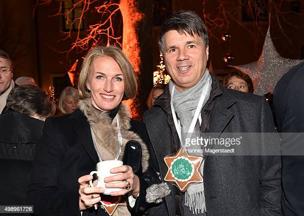 Harald Krueger and Martina Krueger during the 20th BMW advent charity concert at Jesuitenkirche St Michael on November 27 2015 in Munich Germany