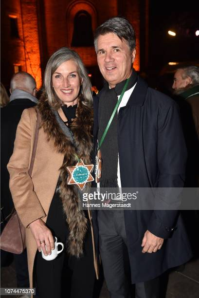 Harald Krueger CEO BMW and his wife Martina Krueger attend the 23rd BMW Advent charity concert on December 20 2018 in Munich Germany