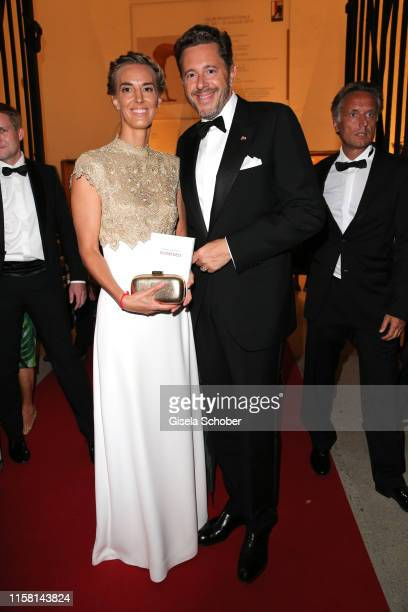 "Harald Mahrer and his wife Andrea Samonigg-Mahrer at the premiere of ""Idomeneo"" during the Salzburg Opera Festival 2019 at Haus fuer Mozart on July..."