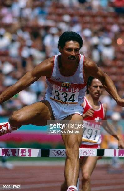 Harald Schmid, Men's Track 400 metres hurdles competition, Memorial Coliseum, at the 1984 Summer Olympics, August 3, 1984.