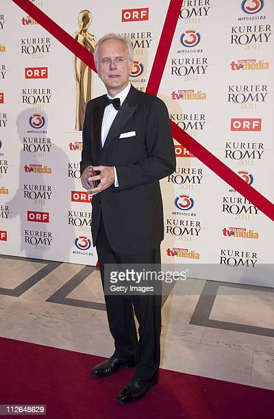 Harald Schmidt attends the 22nd KURIER ROMY Gala at the Hofburg on April 16 2011 in Vienna Austria The Austrian public is asked to choose all award...