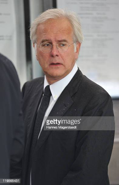 Harald Schmidt attends the funeral ceremony for Leo Kirch at St Michael Kirche on July 22 2011 in Munich Germany Leo Kirch who built one of the...