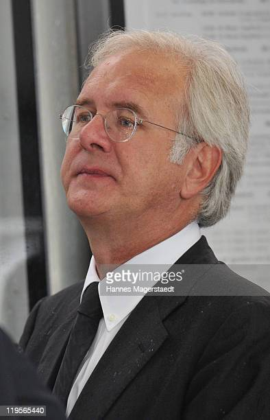 Harald Schmidt attends the funeral ceremony for Leo Kirch at St. Michael Kirche on July 22, 2011 in Munich, Germany. Leo Kirch, who built one of the...
