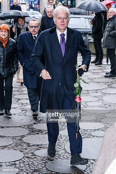 Harald Schmidt attends the Wolfgang Rademann memorial service on February 11 2016 in Berlin Germany