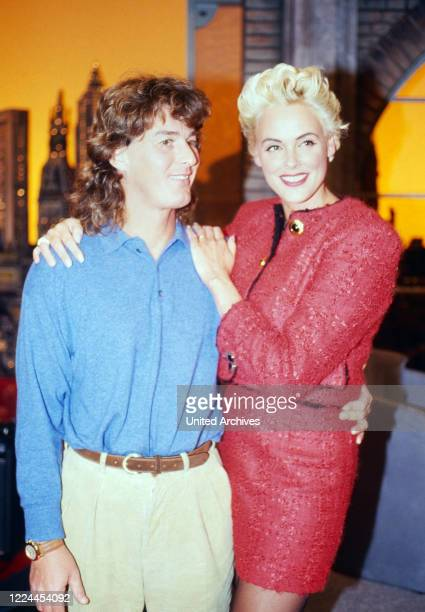 Harald Schmidt Show entertainment talk show Germany 1995 2003 guest star actress Brigitte Nielsen with husband Raoul Meyer Ortolani