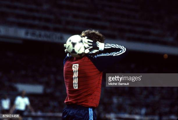 Harald Schumacher of Germany during of the game Semi Final World Cup match between West Germany and France 8th July 1982 in Ramon Sanchez Pizjuan...
