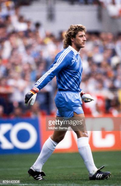 Harald Schumacher of West Germany during the European Championship match between West Germany and Portugal at Meinau Strasbourg Paris on 14th June...