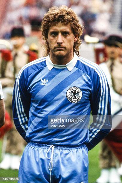 Harald Schumacher of West Germany during the Football European Championship between West Germany and and Spain Paris France on 20 June 1984