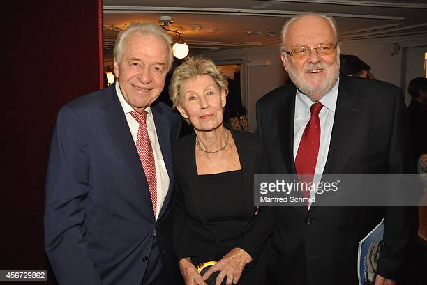Harald Serafin Lotte Ledl and Felix Dworak attend the Mary Poppins musical premiere at Ronacher Theater on October 1 2014 in Vienna Austria