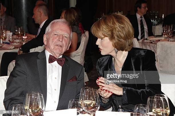 Harald zur Hausen and Dr Christa Maar at the 10th Anniversary Of The Felix Burda Award at Hotel Adlon in Berlin