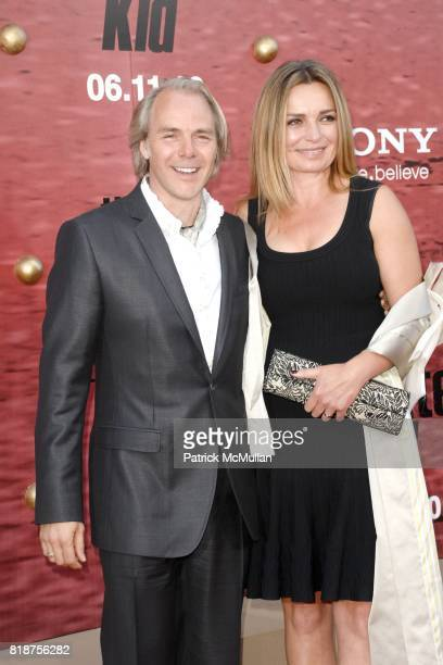 Harald Zwar and Veslemoy Ruud Zwart attend PREMIERE OF COLUMBIA PICTURES THE KARATE KID at Mann's Village Theatre on June 7 2010 in Westwood...