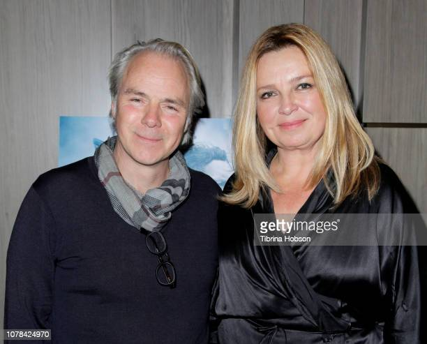 Harald Zwart and Veslemøy Ruud Zwart attend the AMPAS Los Angeles screening of 'The 12th Man' hosted by Princess Märtha Louise of Norway at Cinepolis...
