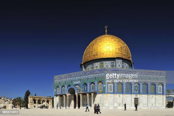 Haram Ash Sharif the temple mount welcome the dome of the rock Qubbet alSakhra in arabic build between 688 and 691 The Dome of the Rock on the...