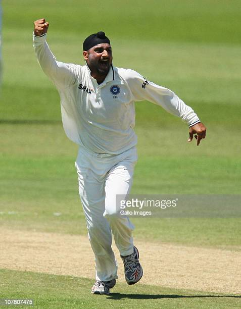 Harbhajan Singh during day 4 of the 2nd Test match between South Africa and India at Sahara Stadium Kingsmead on December 29 2010 in Durban South...
