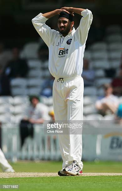 Harbhajan Singh of Surrey during Day One of the LV County Championship Division One match between Surrey CCC and Durham CCC at the Brit Oval on July...