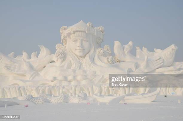 harbin ice and snow festival 2013 - snow festival stock pictures, royalty-free photos & images