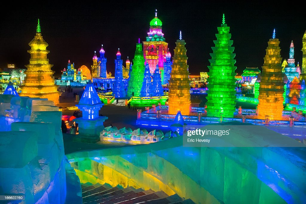 Harbin Ice Festival, China, 2012 : Stock Photo
