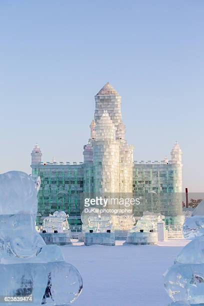 harbin ice festival - harbin ice festival stock pictures, royalty-free photos & images