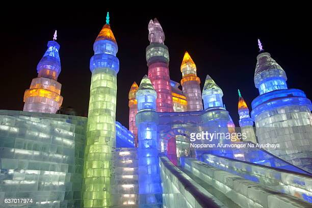 harbin snow&ice festival 2013 - harbin ice festival stock pictures, royalty-free photos & images