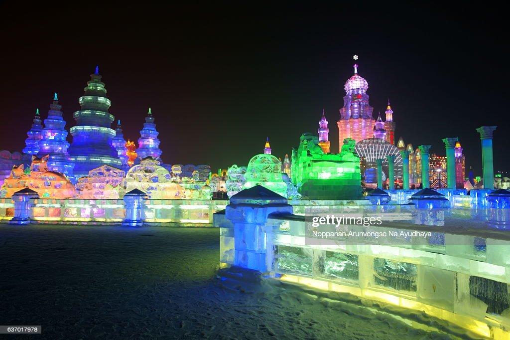 Harbin Snow&Ice Festival 2013 : Stock Photo