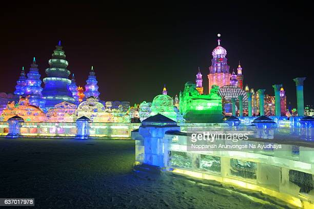 harbin snow&ice festival 2013 - snow festival stock pictures, royalty-free photos & images