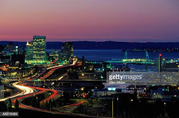 Harbor and City Skyline of Tacoma, Washington
