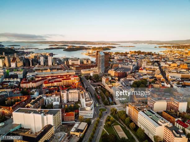 オスロの港と金融街の眺め, ノルウェー - オスロ ストックフォトと画像