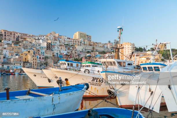 Harbor and old town of Sciacca Sicily