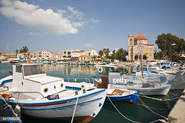 Harbor and Panagitsa Church on Aegina
