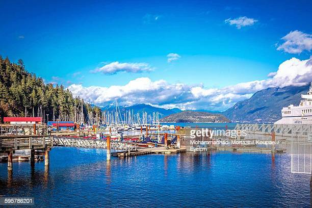 harbor at horseshoe bay against sky - 2015 stock pictures, royalty-free photos & images