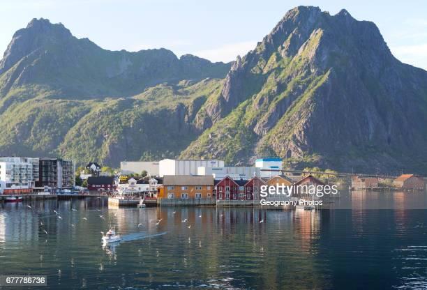 Harbor at Svolvaer Lofoten Islands Nordland Norway