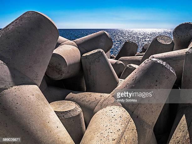 harbor breakwater - latchi ストックフォトと画像