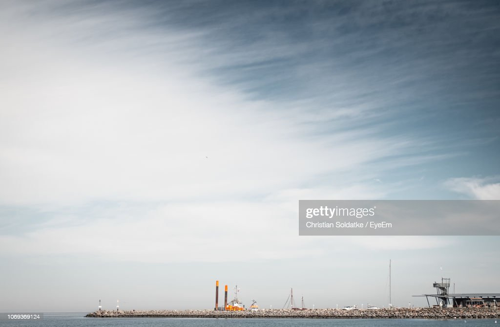 Harbor By Sea Against Sky : Stock-Foto