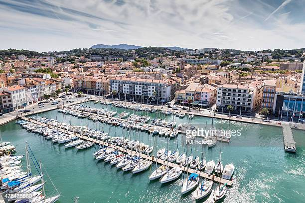 harbor district of la seyne-sur-mer - pjphoto69 stock pictures, royalty-free photos & images