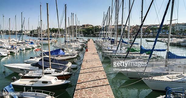 Harbor, Gargnano, Lombardia, Italy