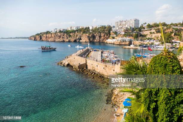 harbor in antalya turkey. - antalya province stock pictures, royalty-free photos & images