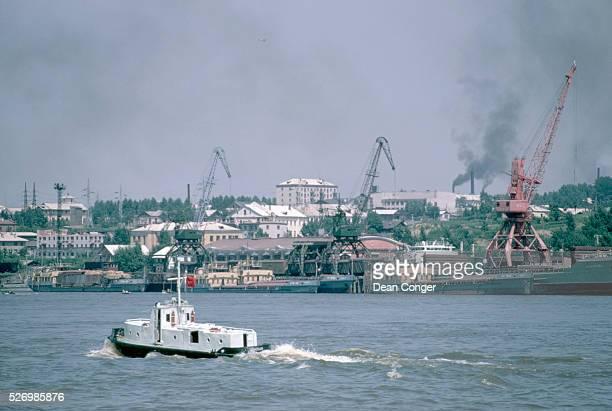 Harbor in Khabarovsk