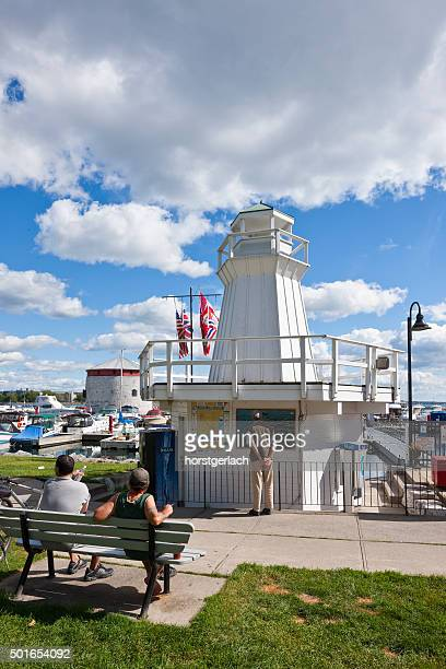 harbor in kingston, ontario, canada - kingston ontario stock photos and pictures