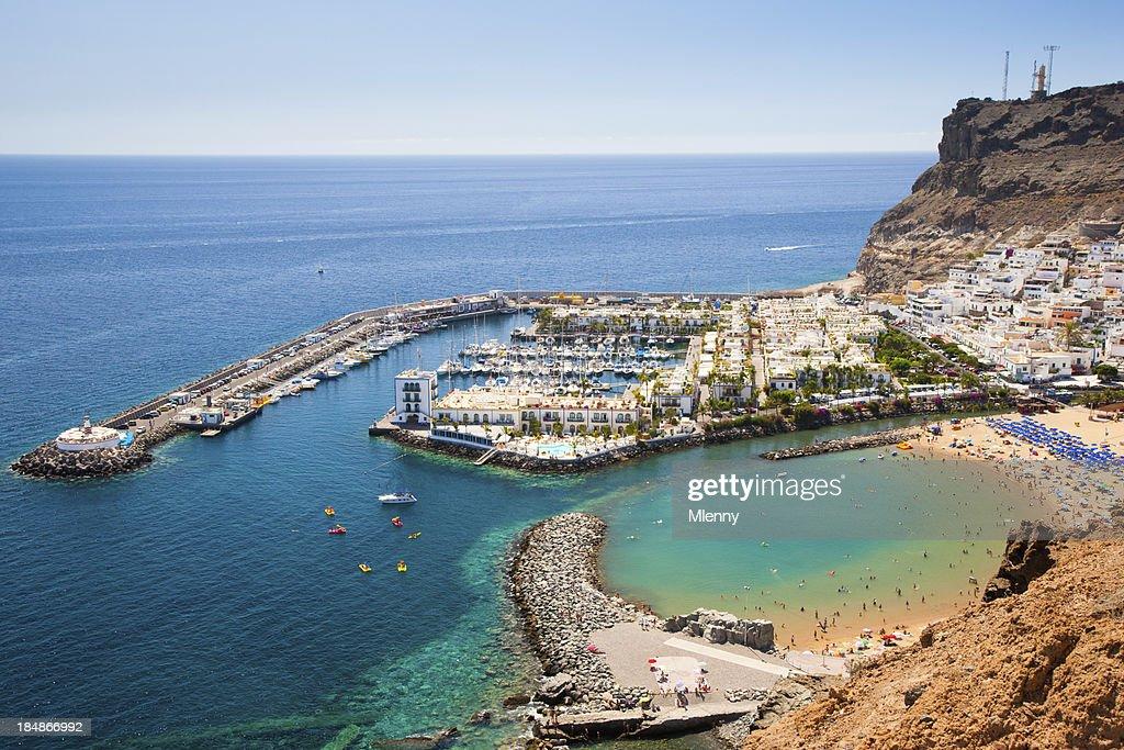 Harbor in Puerto de Mogan on Grand Canary Island : Stock Photo