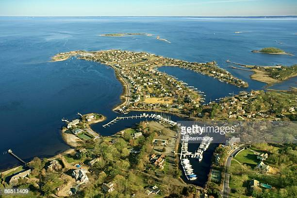 harbor in sherwood island state park - connecticut stock pictures, royalty-free photos & images