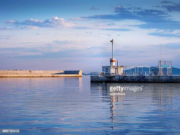 harbor, kavala, macedonia and thrace, greece - quayside stock pictures, royalty-free photos & images