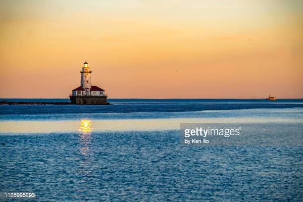 harbor lighthouse - ken ilio stock photos and pictures