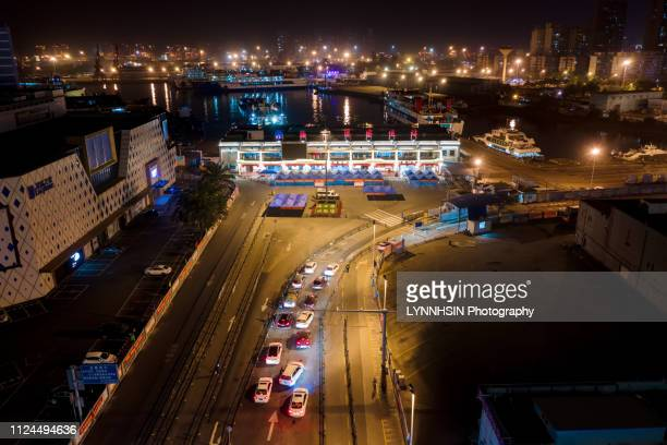 harbor night before spring festival travel rush - lynnhsin stock pictures, royalty-free photos & images
