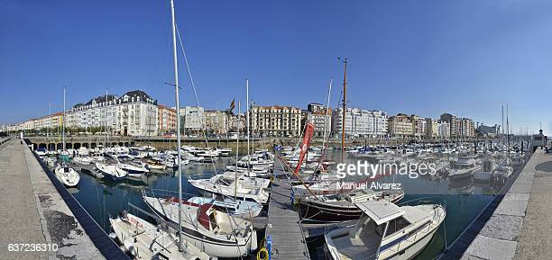 Harbor of boats in Santander